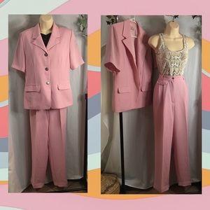 Australian made pink short sleeved 2 piece set